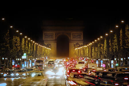 Champs-Elysées and the Arc de Triomphe